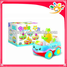 Cute Fruit Car Cartoon Pineapple Car Plastic B/O Bump & Go Cartoon Car Toys Car Toys With Light And Music For Children