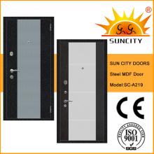2016 Nuevo MDF dentro de la puerta de madera de acero para la entrada (SC-A219)