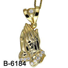 New Design Elegant Ladies Fashion Micro Pave Pendant Gold Plating (B-6184)