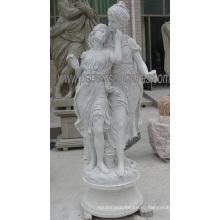 Украшение сада статуи статуи из резного камня с мраморным песчаником (SY-X1313)