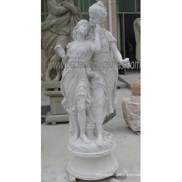Escultura de piedra tallada decoración del jardín de la estatua con la piedra arenisca de mármol del granito (SY-X1313)