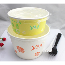 Recipiente de alimento descartável isolado papel Eco-amigável barato