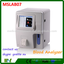 MSLAB07 Best Vente Electric Hospital Equipment Analyseur d'hématologie automatique complet