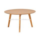 2016 Oak Veneer Round Coffee Table with 3 oak Legs