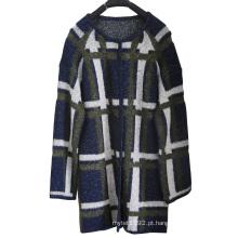 Senhoras inverno cardigan longo knit suéter vestuário