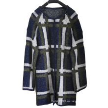 Длинный трикотаж с длинным вязаным свитером