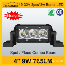 Headlight type led light single row led light bars 9W