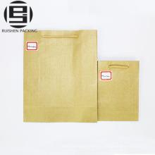 Крафт-коричневый бумажные мешки с ручки