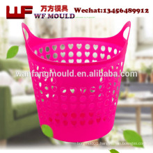 OEM plastic storage basket with metal handle injection mould manufacturing/best sale plastic storage basket injection mould