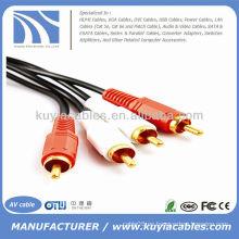 16FT 2RCA a 2RCA Cable de audio estéreo doble Cable de audio y vídeo cable 5m