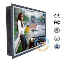 Abrir quadro de 20 polegadas LCD monitor HDMI VGA DVI com alto brilho