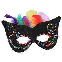 KIDS DIY tarjeta de rascar impresión máscara de tarjeta de papel