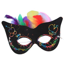 KIDS DIY scratch card printing penpaper card mask