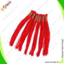 Cordón de borla de nylon rojo Cordón de borla de nudo chino Cordón decorativo de la borla