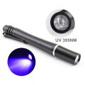 1W Money Detecter Meilleure lampe de poche UV Light 395NM-400NM Stylo ultraviolet pour inspection