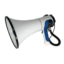 Megafone da polícia com conversa e sirene