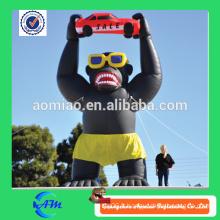 Gorille gonflable géante bonne qualité oxford tissu vente chaude gonflable gorille pour la publicité