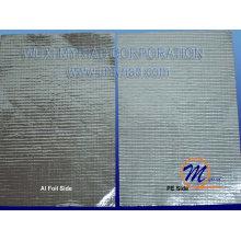 Feuillet en aluminium Tissu tissé / matériau d'isolation tissé avec feuille d'aluminium et bulle / matériaux de construction