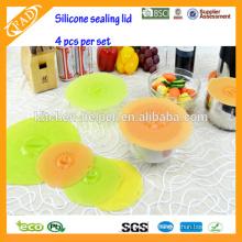 Venta caliente FDA y LFGB tazón de silicona cubierta a prueba de polvo