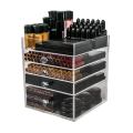 Acrylic 4 Drawers Makeup Organizer Storage Box