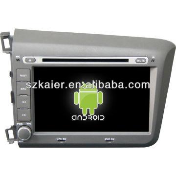 Android System Auto DVD-Player für 2012 Honda Civic mit GPS, Bluetooth, 3G, iPod, Spiele, Dual Zone, Lenkradsteuerung