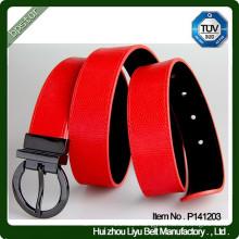 Uniform Woman PU Leather Reversible Belt Buckle
