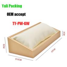 White Beige Leather Watch Stand Box (TY-PW-GW)