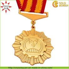 Médaille d'officier militaire en métal de cuivre de haute qualité