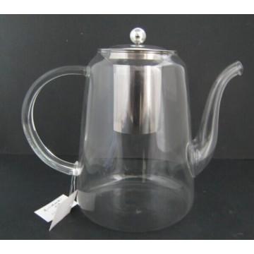 Borosilikatglas Teekanne mit Edelstahl Infuser