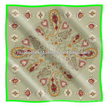 Turkish scarf / screen printed paisley design turkish scarf