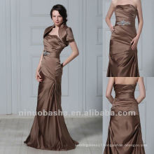 Discount With Wraps Slight Mermaid Strapless Pleated Rhinestone Waistband Mother Dress Bridal Gown
