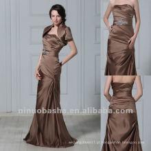 Desconto com Wraps Slight Mermaid Strapless Strapless Rhinestone Waistband Mãe Vestido Vestido de Noiva