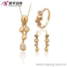 63335 mode china großhandel nigerianischen hochzeit perlenschmuck schöne einfache 18 karat weißer diamant vergoldet schmuck-sets