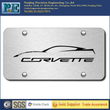 ISO 9001 passed custom stainless steel license plate