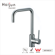 Haijun Best Design Commercial Tall Zinc Alloy Handle Single Hole Kitchen Faucet