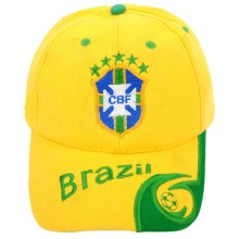 2014 Brasil World Cup Fans Cap, béisbol Panel 6 Cap