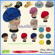 Горячая продажа моды новой женской женской шерсти смесь берет шапочка Зимняя шляпа Ski Cap подарки