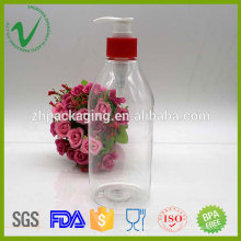 Zylinder klar 500ml flüssige Seife Kunststoff-Flasche mit Pumpe Haushalt