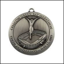 Металлическая медаль с высокой плотностью никелирования (GZHY-JZ-012)