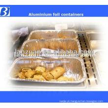 Comida da folha Aluninum recipientes descartáveis