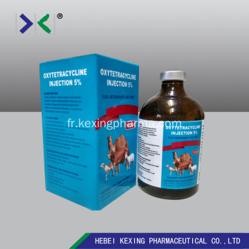 Injection animale d'oxytétracycline 5%