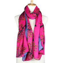 Women Fashion Printed Viscose Long Scarf (YKY1023-4)