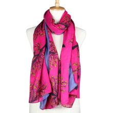 Женщины мода напечатаны вискоза длинный шарф (YKY1023-4)