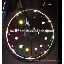 lueur dans la vente de wholes foncé bicyclettes réflecteurs de roues