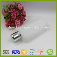 Screw Cap Sealing HDPE disposable oval empty 10oz plastic wine bottle
