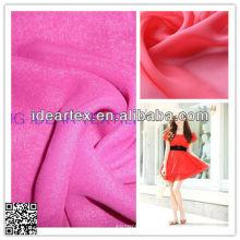 Vestido de Chiffon para verão, seda de imitação 50D