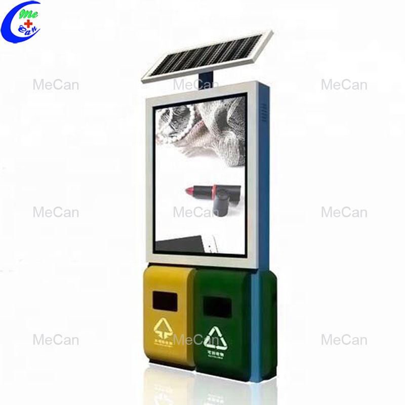 Solar advertising trash