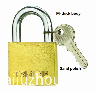 20mm M-thick Type Brass Padlocks