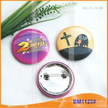 Boutons d'insigne colorés ronds en forme de plaque d'étain personnalisés BM1123