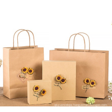 Fancy Offset Printing Custom Kraft Paper Gift Bag